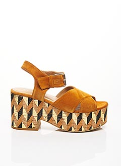 Sandales/Nu pieds jaune STRATEGIA pour femme