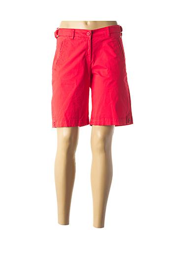 Bermuda rouge ARMOR LUX pour femme