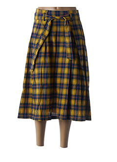 Jupe mi-longue jaune FRNCH pour femme