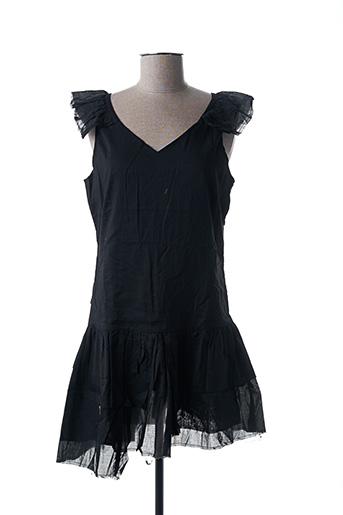 Tunique manches courtes noir EPURE pour femme