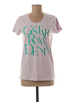 T-shirt manches courtes violet G STAR pour femme