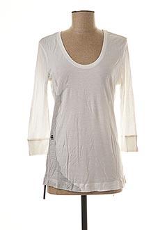 T-shirt manches longues blanc G STAR pour femme