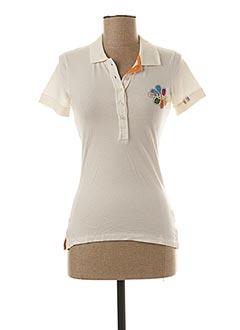Polo manches courtes blanc GURU pour femme