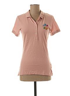 Polo manches courtes rose GURU pour femme