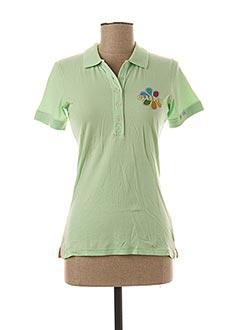 Polo manches courtes vert GURU pour femme