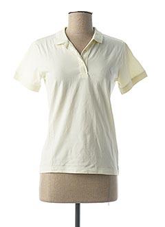 Polo manches courtes jaune CHEAP MONDAY pour femme