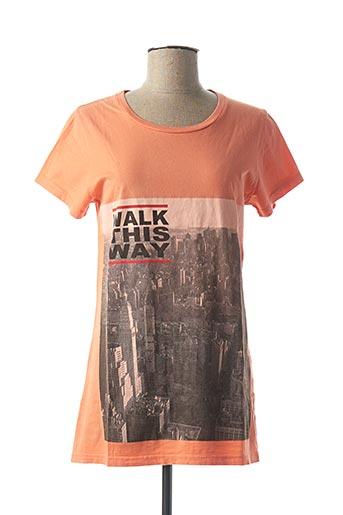 T-shirt manches courtes orange CALIFORNIAN VINTAGE pour femme