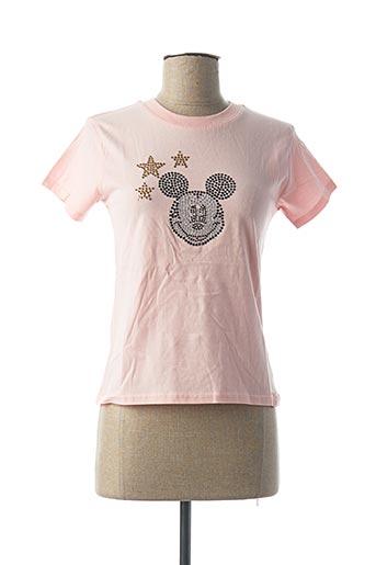 T-shirt manches courtes rose INK & PAINT pour femme