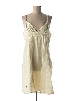 Robe mi-longue beige G STAR pour femme