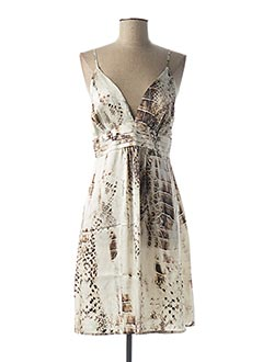 Robe mi-longue beige GUESS BY MARCIANO pour femme