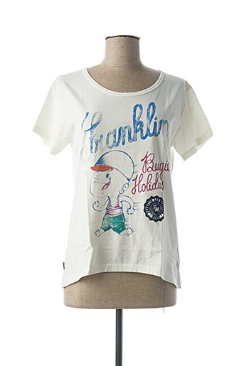 T-shirt manches courtes blanc FRANKLIN MARSHALL pour femme