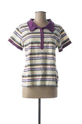 Polo manches courtes violet CONVERSE pour femme