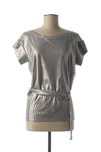 Tunique manches courtes gris BILL TORNADE pour femme