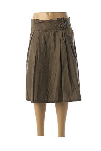 Jupe mi-longue marron DDP pour femme