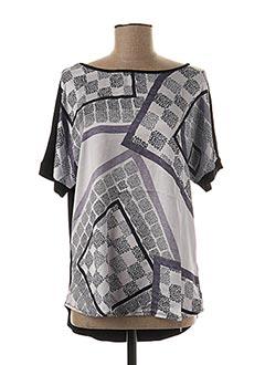 T-shirt manches courtes noir BLUOLTRE pour femme