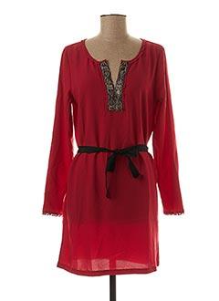 Robe mi-longue rouge BY CLARA pour femme