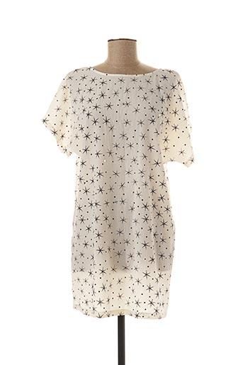 Robe courte beige BY SWAN pour femme