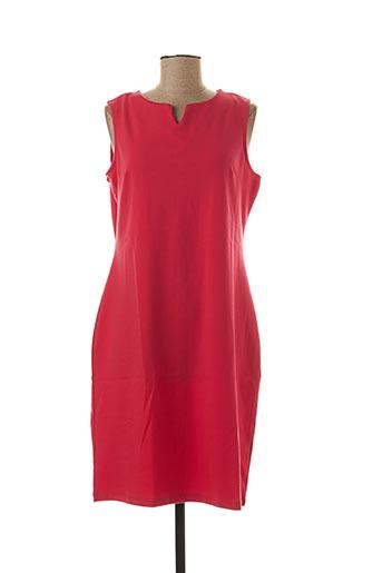 Robe mi-longue rouge GREENPOINT pour femme