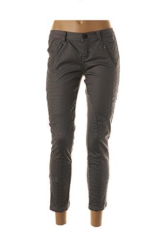 Pantalon 7/8 gris BISOU D'EVE pour femme