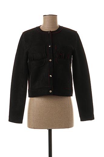 Veste casual noir ATTENTIF pour femme
