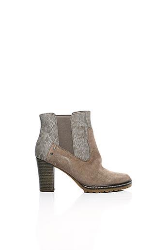 Bottines/Boots beige S.OLIVER pour femme