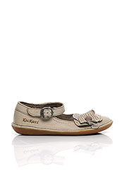 Ballerines beige KICKERS pour fille seconde vue