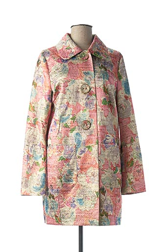 Manteau long rose CAROLINE BISS pour femme