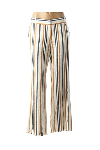 Pantalon casual jaune CAROLINE BISS pour femme