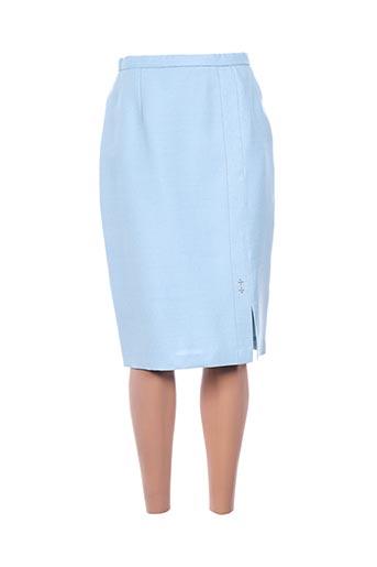 Jupe mi-longue bleu IMPULSION pour femme
