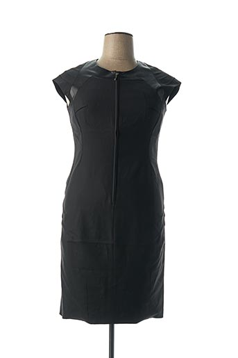 Robe mi-longue noir CARA LOTTI pour femme