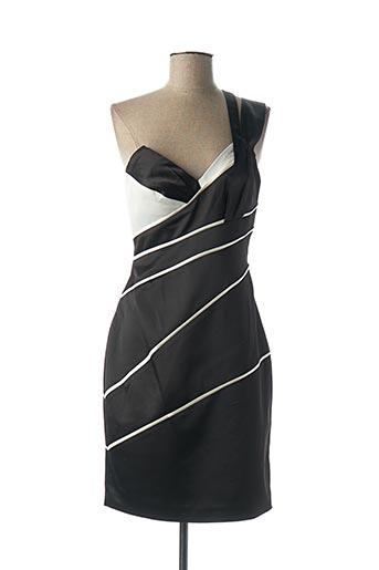 Robe mi-longue noir FAUST pour femme