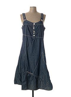 Robe mi-longue bleu BE THE QUEEN pour femme