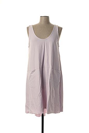 Robe mi-longue violet AUREA VITA pour femme
