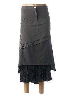 Jupe longue gris BE THE QUEEN pour femme
