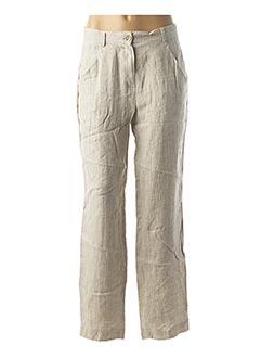 Pantalon chic beige EVA TRALALA pour femme