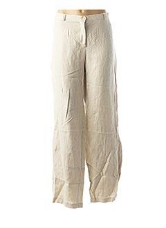 Pantalon casual beige EVA TRALALA pour femme