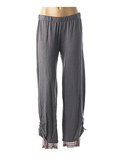 Pantalon casual gris BE THE QUEEN pour femme