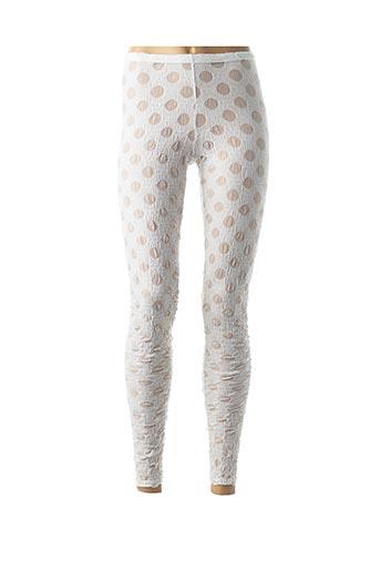 Legging blanc BORIS INDUSTRIES pour femme