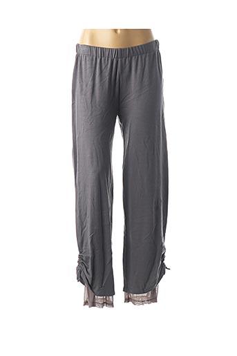 Pantalon casual gris BE THE QUEEN pour femme