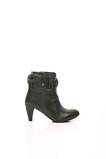 Bottines/Boots vert IPPON STYL pour femme