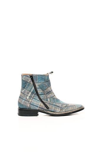 Bottines/Boots bleu IPPON STYL pour homme