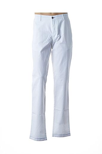 Pantalon casual blanc BRUNO SAINT HILAIRE pour homme