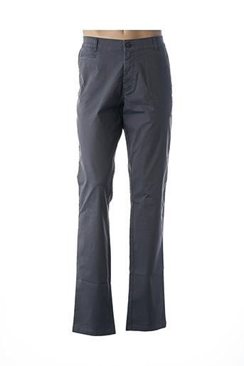 Pantalon casual gris BRUNO SAINT HILAIRE pour homme