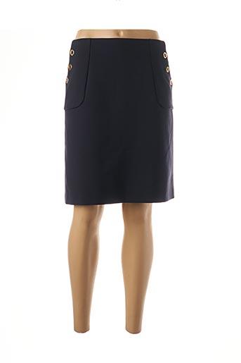 Jupe mi-longue bleu BRUNO SAINT HILAIRE pour femme