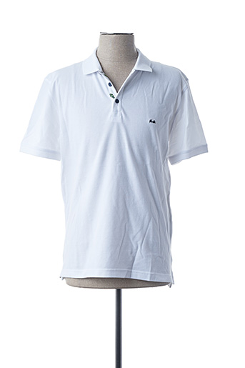 Polo manches courtes blanc BRUNO SAINT HILAIRE pour homme