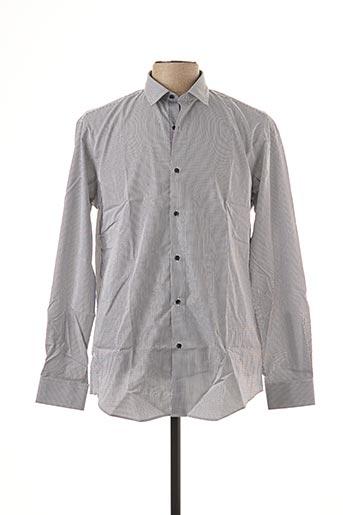 Chemise manches longues gris BRUNO SAINT HILAIRE pour homme