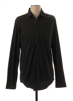 Chemise manches longues noir KAPORAL pour homme