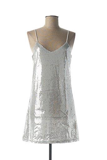 Robe courte gris J S MILLENIUM pour femme
