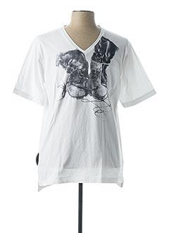 T-shirt manches courtes blanc GNIOUS pour homme