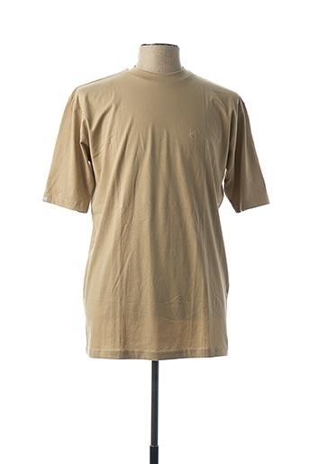 T-shirt manches courtes beige DANIEL HECHTER pour homme